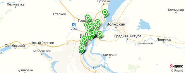 кондитерские на карте Волгограда