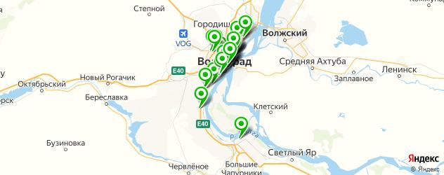 столовые на карте Волгограда
