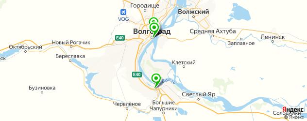 рестораны с детской комнатой на карте Волгограда