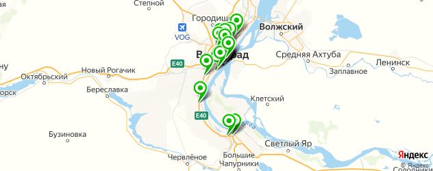 салоны оптики на карте Волгограда