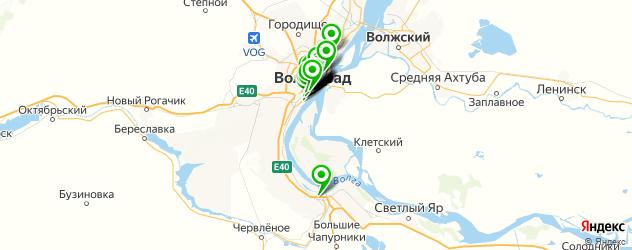 рестораны для свадьбы на карте Волгограда