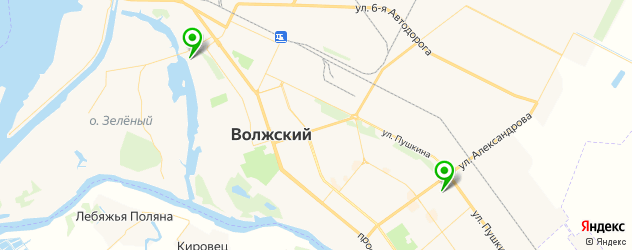 санатории на карте Волжского