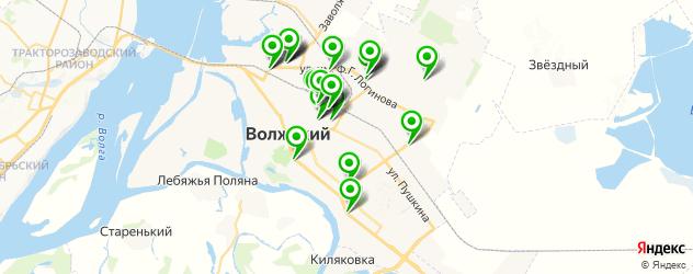 магазины шин и дисков на карте Волжского