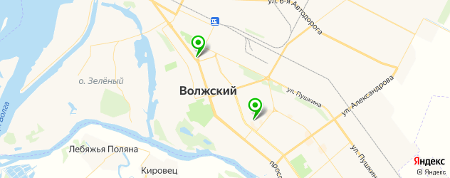 боулинги на карте Волжского