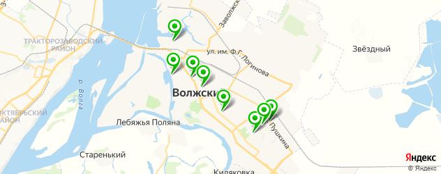 рыба на карте Волжского