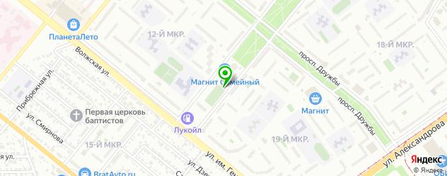 теннисные корты на карте Волжского