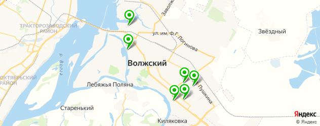 сэндвичи на карте Волжского