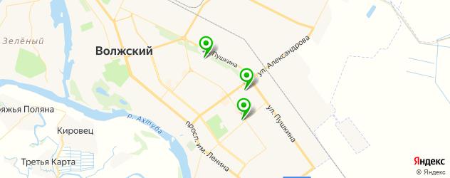 детские поликлиники на карте Волжского