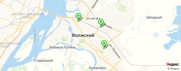 бассейны на карте Волжского