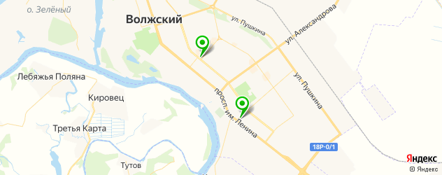 катки на карте Волжского