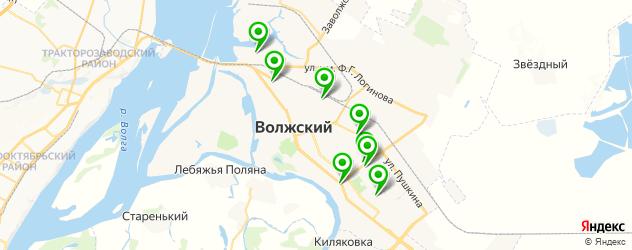 Доставка шашлыка на карте Волжского