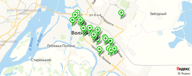 бесплатный Wi-Fi на карте Волжского