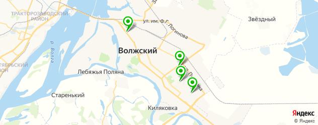 детские стоматологические поликлиники на карте Волжского