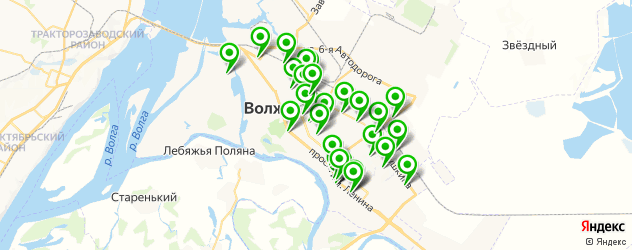 шиномонтажи на карте Волжского