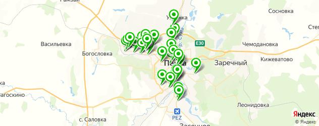 автостоянки на карте Пензы