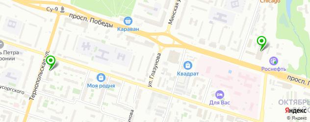 анализ крови на карте проспекта Победы
