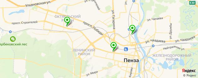 боулинги на карте Пензы