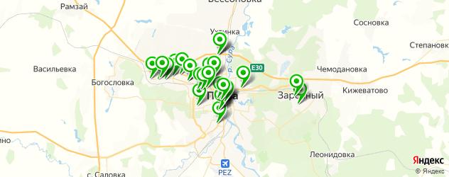 спорты-бары на карте Пензы