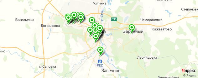 массажные салоны на карте Пензы