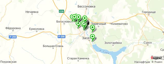 рестораны на карте Пензы