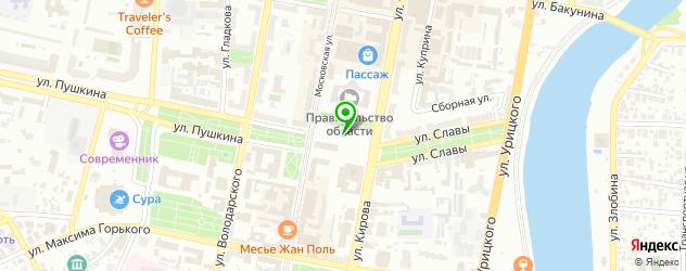парковки на карте Пензы