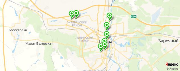 квесты на карте Пензы