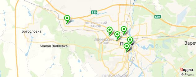 детские стоматологические поликлиники на карте Пензы