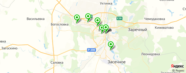 женские фитнес-клубы на карте Пензы