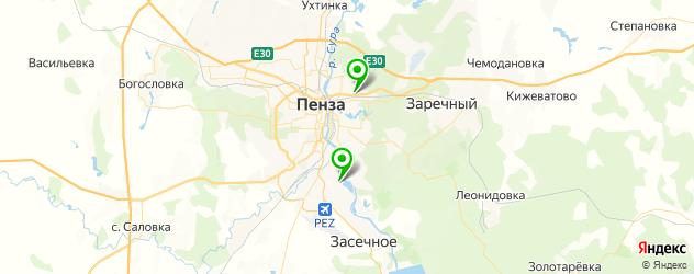 скалодромы на карте Пензы
