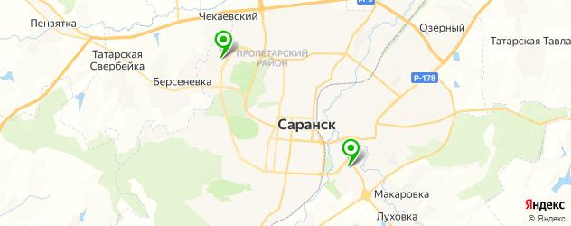 детские стоматологические поликлиники на карте Саранска