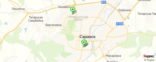 теннисные корты на карте Саранска