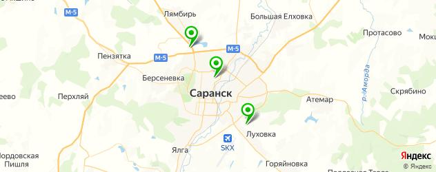 конные клубы на карте Саранска