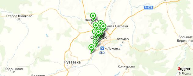 магазины шин и дисков на карте Саранска