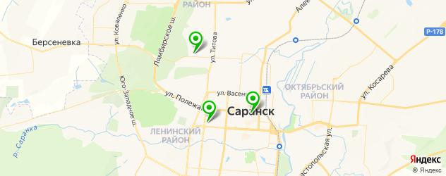 фитнесы с бассейном на карте Саранска