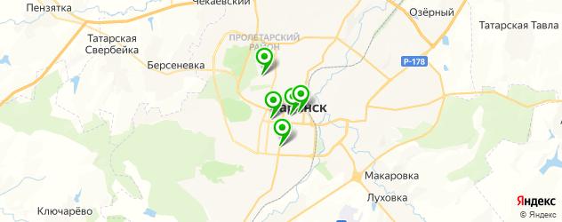 бассейны на карте Саранска
