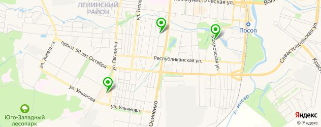 детские развлекательные центры на карте Саранска