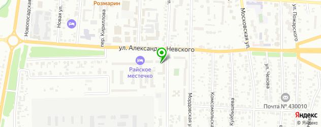 боди-арты салон на карте Саранска