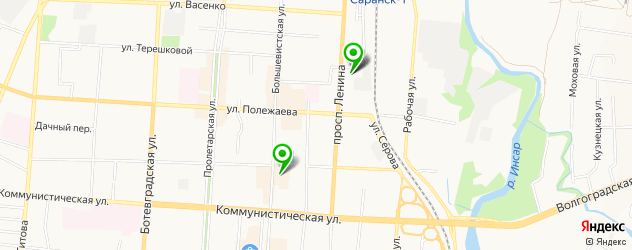 японские рестораны на карте Саранска