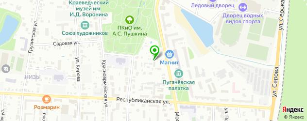 зоопарки на карте Саранска