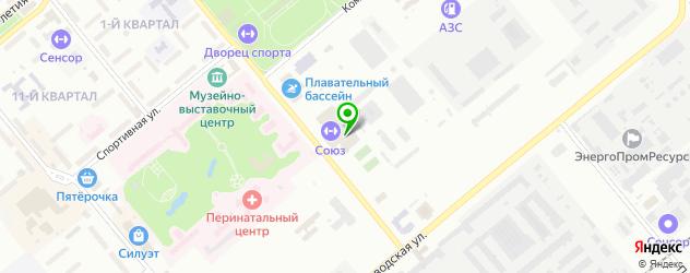 теннисные корты на карте Заречного