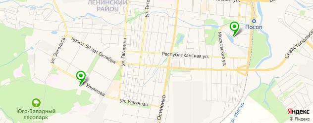 стадионы на карте Саранска