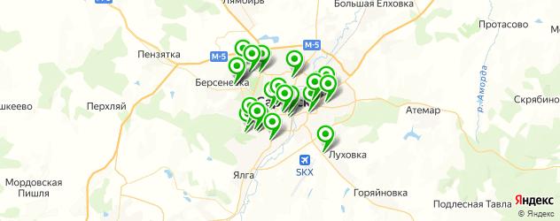 библиотеки на карте Саранска
