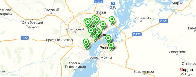 спортивные секции на карте Саратова