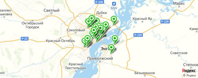 автосервисы на карте Саратова