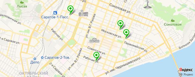 картинные галереи на карте Саратова