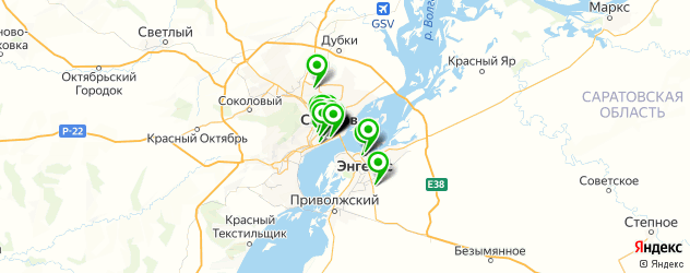 кафе на карте Саратова