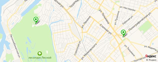 спортивные клубы на карте Энгельса