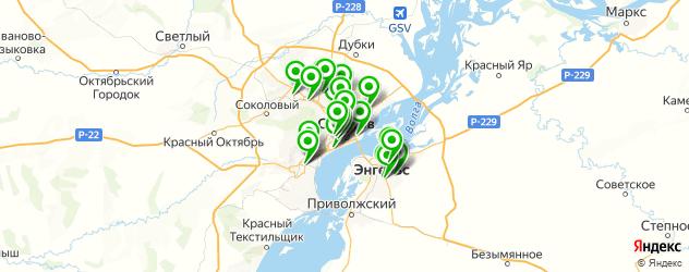 оклейка авто пленкой на карте Саратова