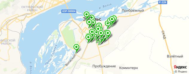 автостоянки на карте Энгельса