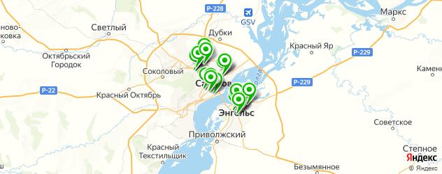 меховые ателье на карте Саратова